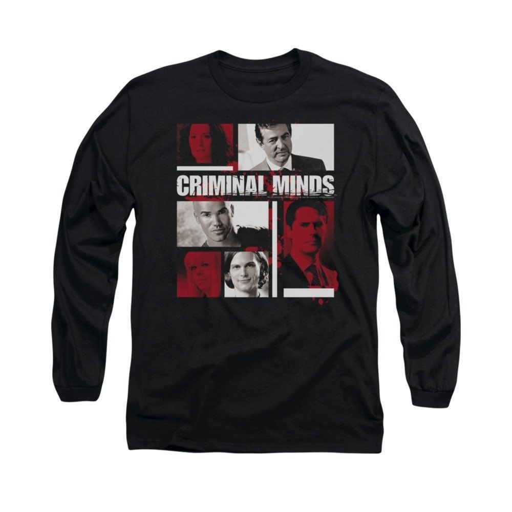 Criminal Minds - Character Boxes Adult Long Sleeve T-Shirt