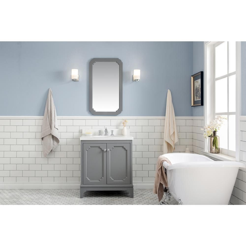 Water Creation Queen 30 In Cashmere Grey Single Sink Bath Vanity