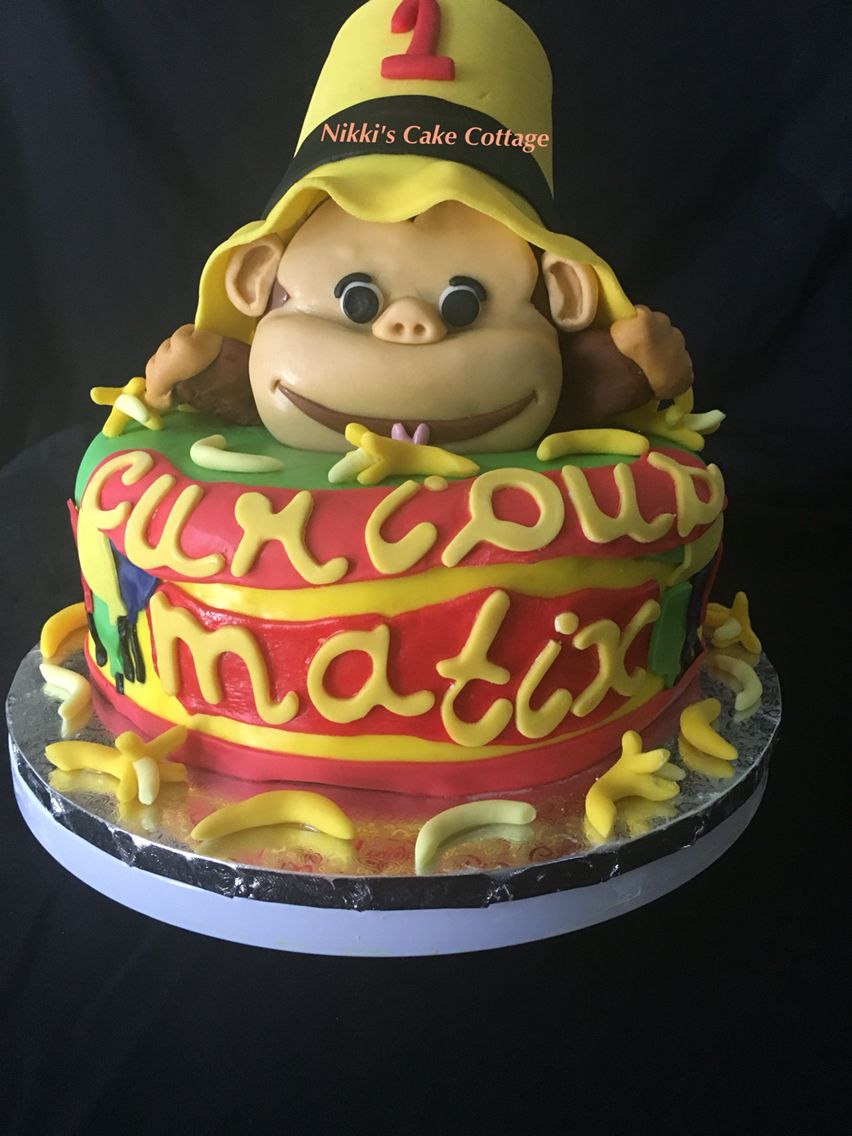 Curious George First Birthday Cake Nikkis Cake Cottage