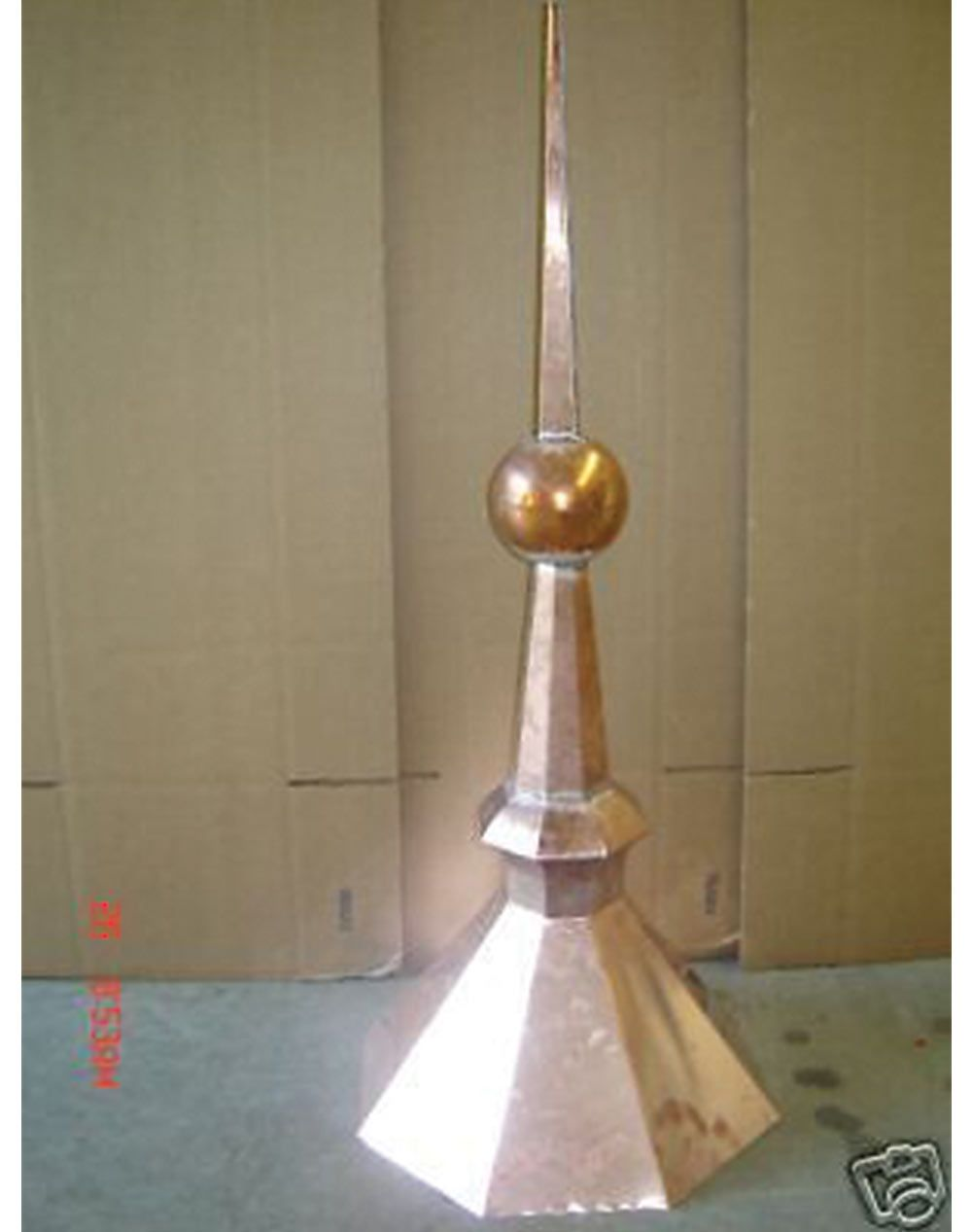 FINIAL ROOF SPIRE COPPER SCULPTURE.HAND MADE.