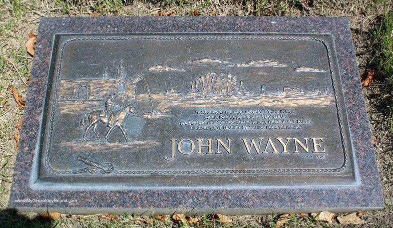 John Wayne Tombstone And Grave Pacific View Memorial Park