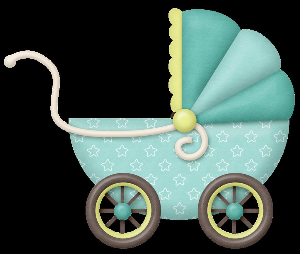 Открытка с детской коляской, красивый рассвет эскиз