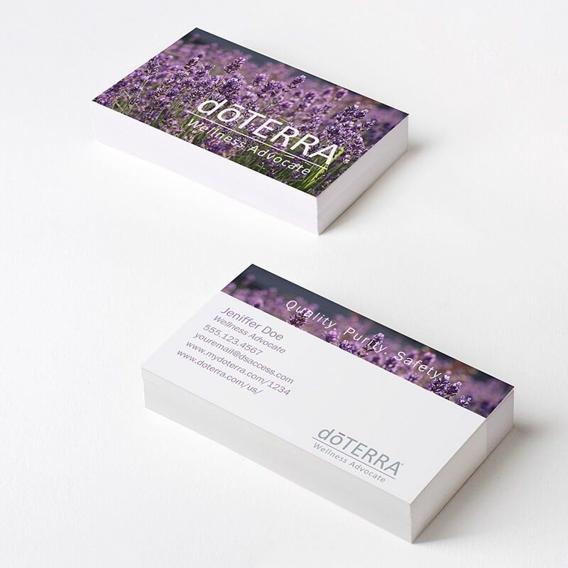 Doterra Lavender Fields Business Cards Dsaccess Doterra - Doterra business card template
