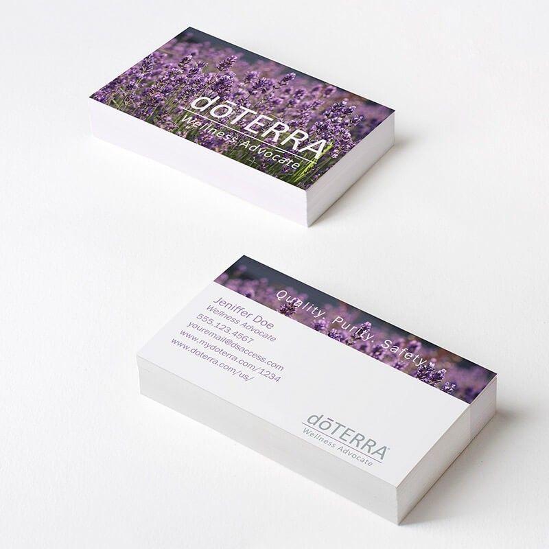 Doterra Lavender Fields Business Cards #dsaccess #doterra ...