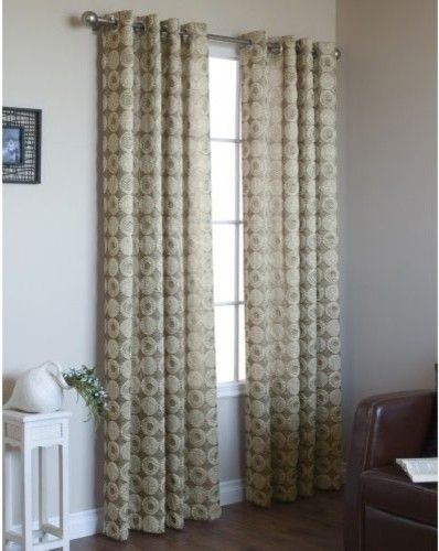 Commonwealth Mayan Grommet Curtain Panel - traditional - curtains - - by Hayneedle