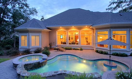 Small swimming pools beach entry with hot tub google for Small pools for sale