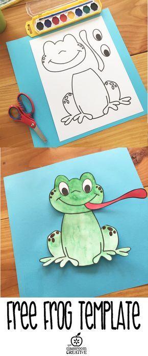 free printable frog template | Skola -NO - djur | Pinterest | Frog ...
