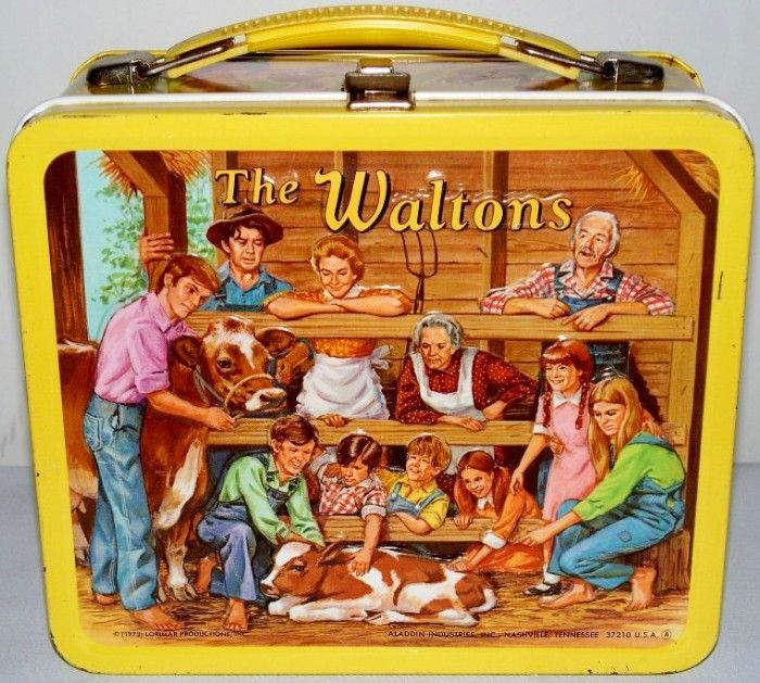 70/'s TV Show 1973 VGC Vintage THE WALTONS Lunchbox /& Thermos