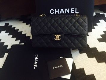Chanel Medium/large Gold Hardware And Caviar Shoulder Bag. Get one of the hottest styles of the season! The Chanel Medium/large Gold Hardware And Caviar Shoulder Bag is a top 10 member favorite on Tradesy. Save on yours before they're sold out!