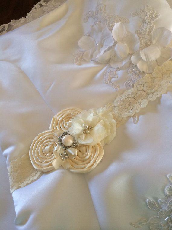 FLOWER GIRL sash , bridal sash , wedding sash , maternity sash (((ivory & ivory lace)))) wedding , sash , bride , flower girl...I kind of like this for sissy in a different color.