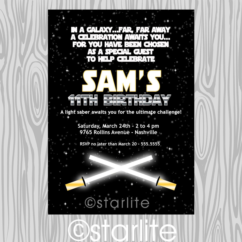 Star Wars inspired - star wars theme birthday party invitation ...