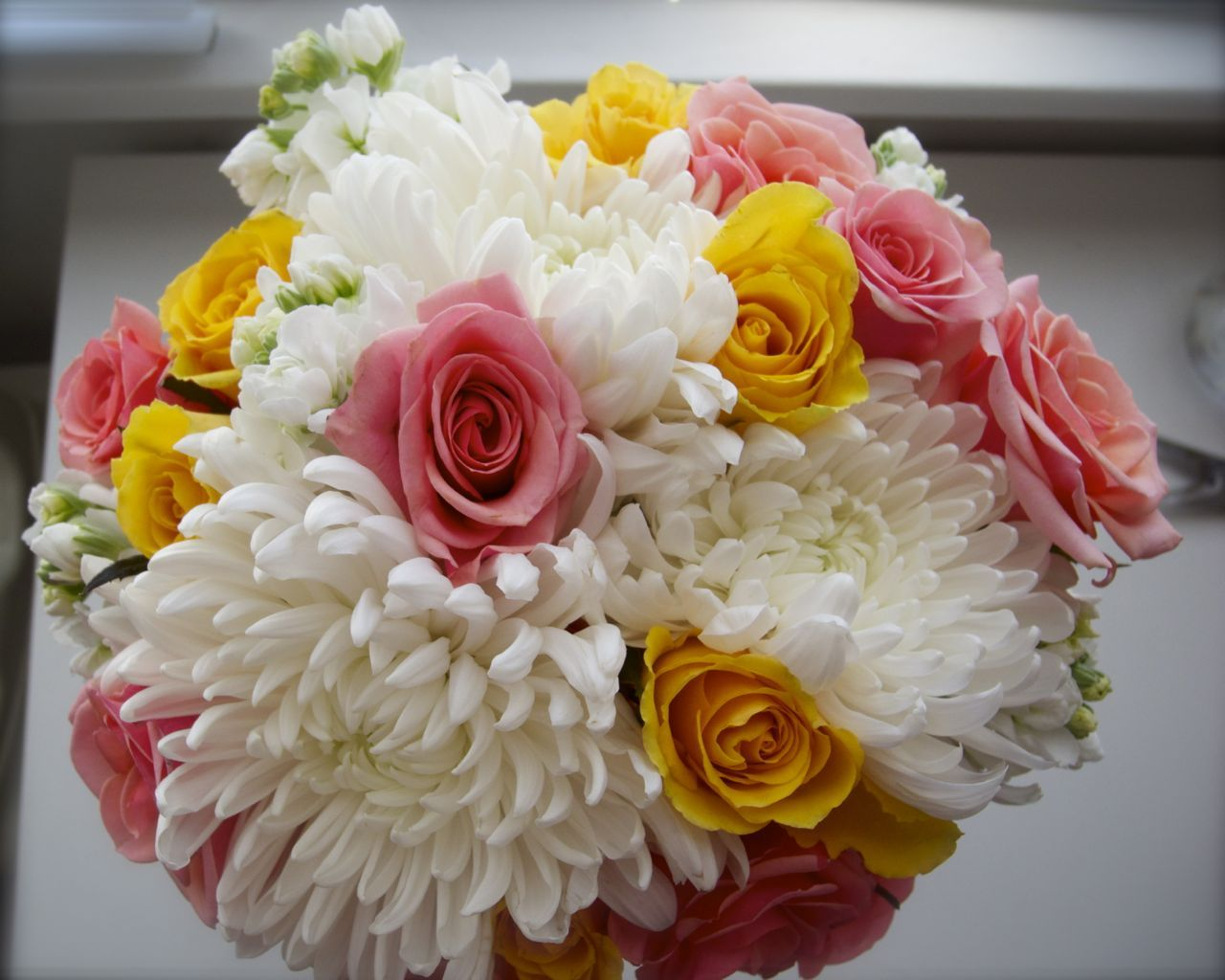 Coral yellow white bouquet coral gold ivory babysbreath diy rustic white coral and yellow bridal bouquet mightylinksfo
