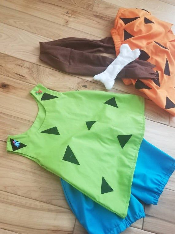 Pebbles and Bam Bam Flintstone inspired costume/ cosplay