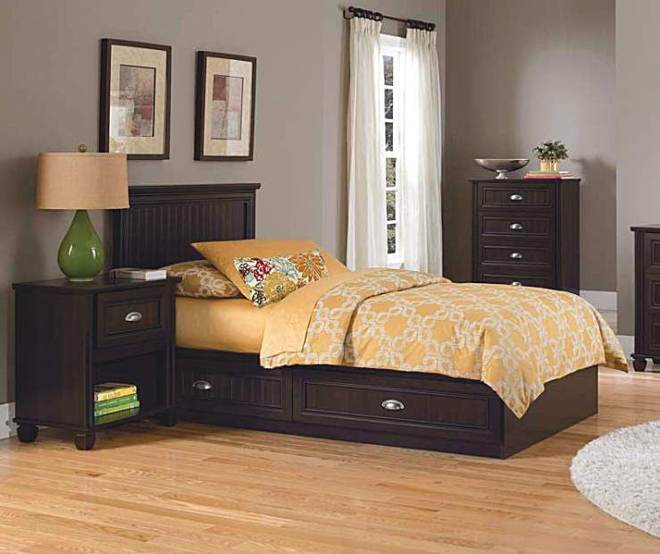 Best Ameriwood Twin Mates Cherry Bedroom Collection At Big Lots 400 x 300