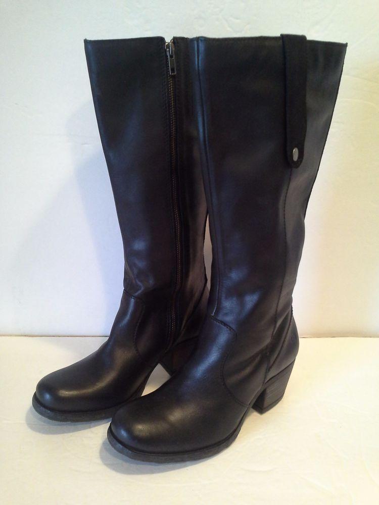 2864beeaf2a Born Carney Block Heel Tall Boots - Black