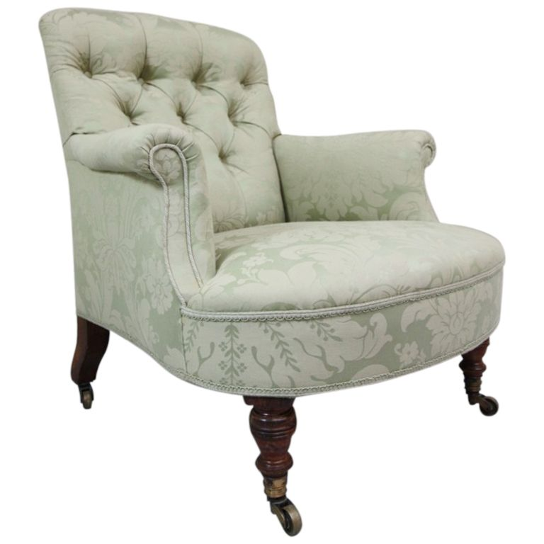 Howard U0026 Sons Antique Upholstered Armchair.