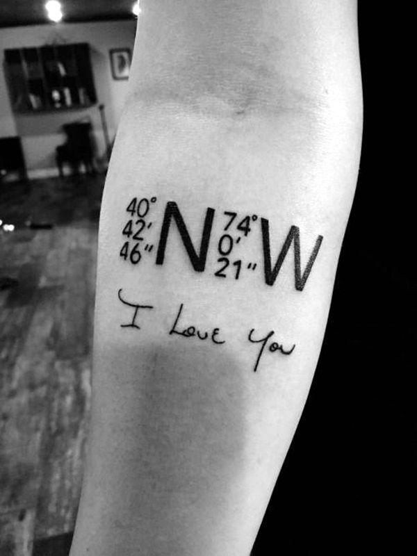 Photo of 40 coordonnées idées de tatouage pour marquer une mémoire sur votre corps