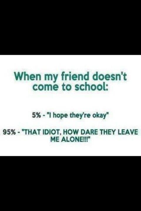 Your friend is absent | Quotes | Funny, Funny Quotes, Shit happens