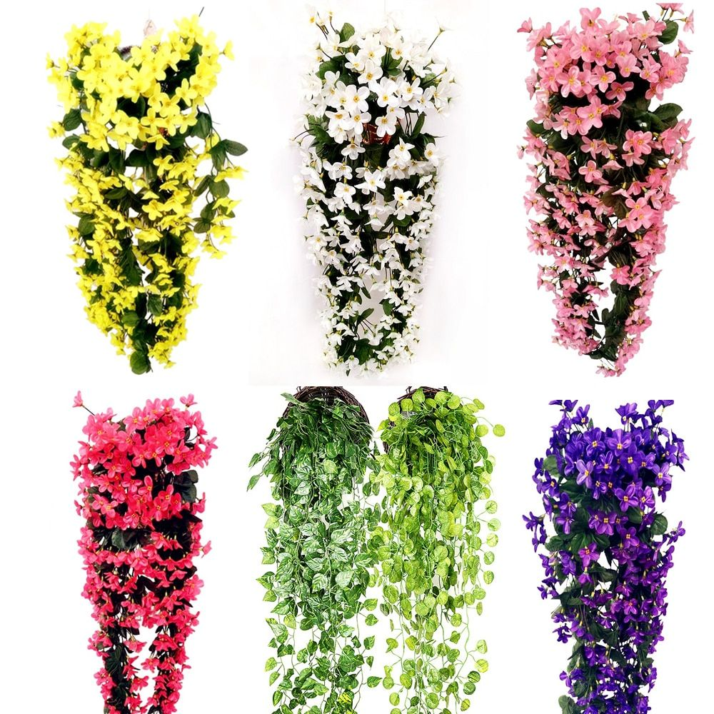 Cheap Artificial Dried Flowers Buy Directly From China Suppliers Violet Artificial Ivy Leaf Garland In 2020 Hanging Flower Wall Hanging Flower Baskets Dried Flowers