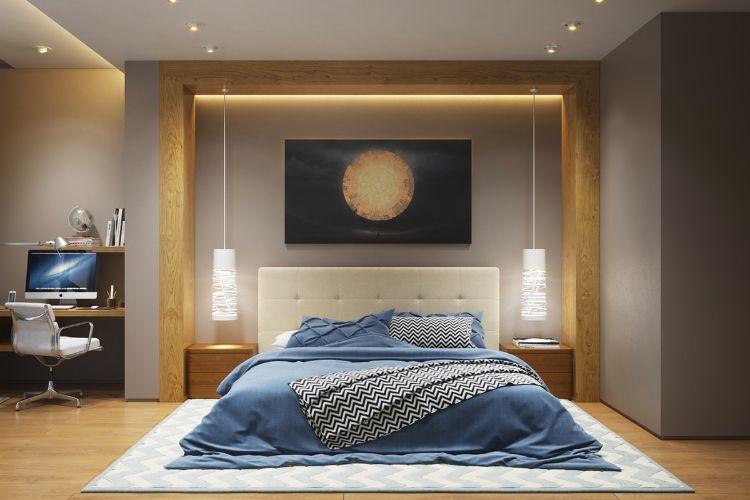 Bon éclairage Indirect Plafond Chambre à Coucher Ambiance Cosy