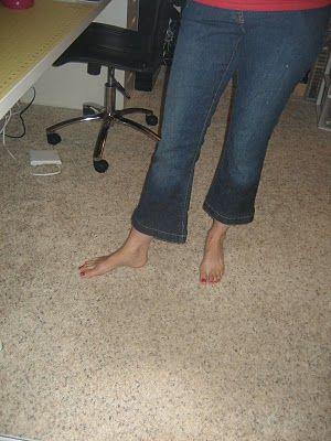 jeans to capris using original hem