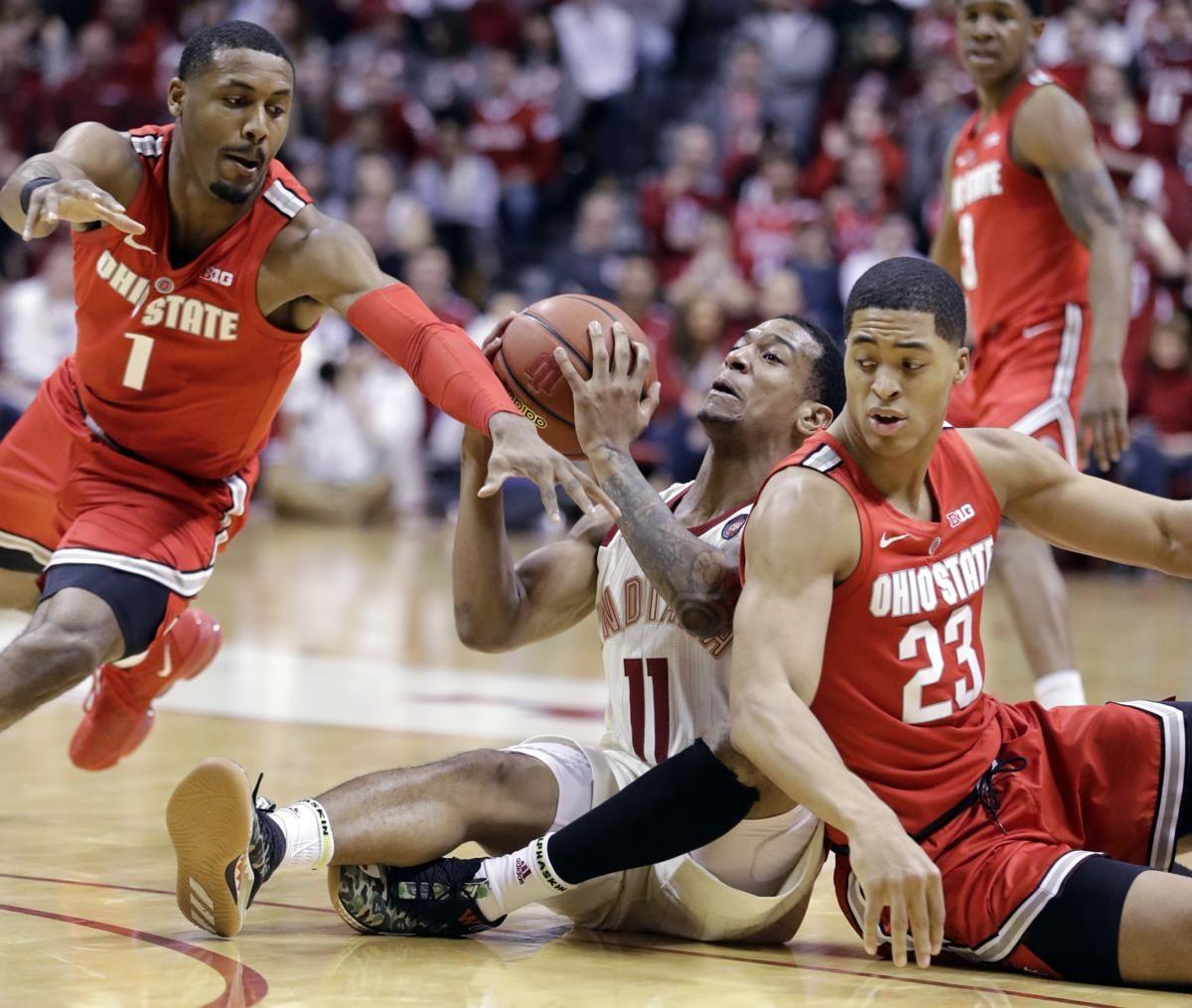 Wesson's tiebreaking dunk sends Buckeyes past Hoosiers