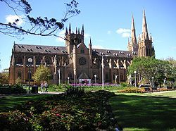 St. Mary's Cathedral in Sydney where Rachel buys the rosary.