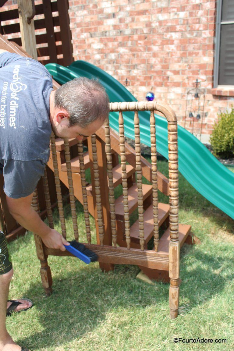 How to convert a Jenny Lind Crib into a twin headboard ...