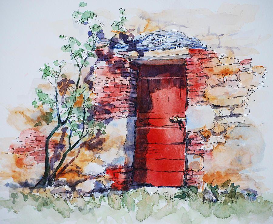 Red Door Print by Sue Zimmermann & Sue Zimmerman WATERCOLOR | Water colors | Pinterest | Zimmerman ...