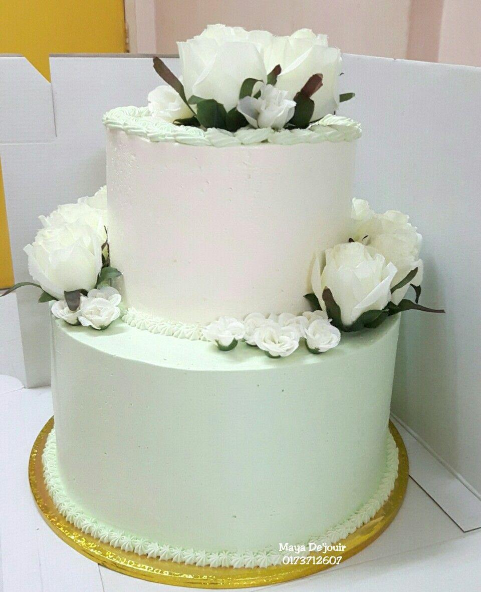 weddingcake #birthdaycake #malaywedding #fondant #fondantcake #but ...