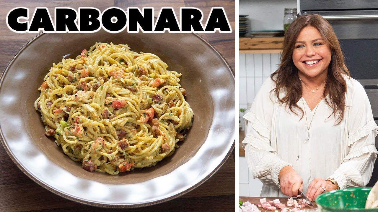 Rachael Ray Makes Carbonara With Crab Food Network Food Network Recipes Crab Recipes Carbonara