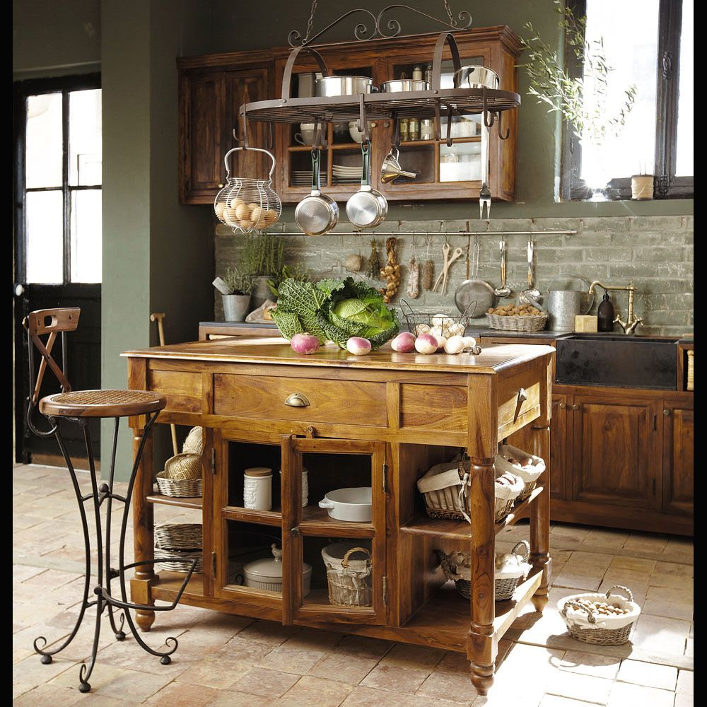 Ilot Central Cuisine Table A Manger: Lake House Cottage