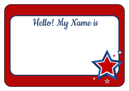 4th Of July Party Bbq Name Tags Name Tag Templates Sticker Template Label Templates