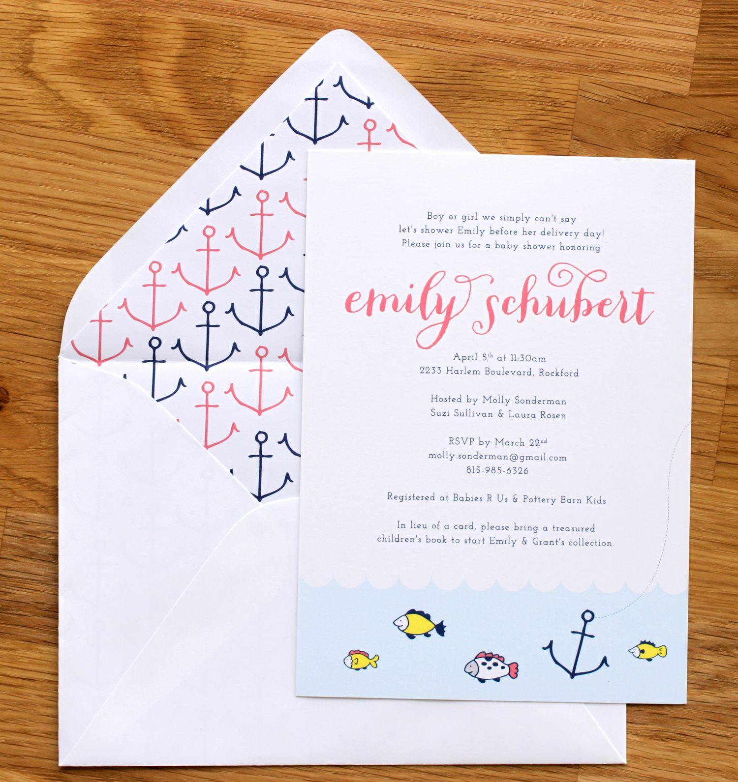 Nautical Baby Shower Invitation | The Charm Studio