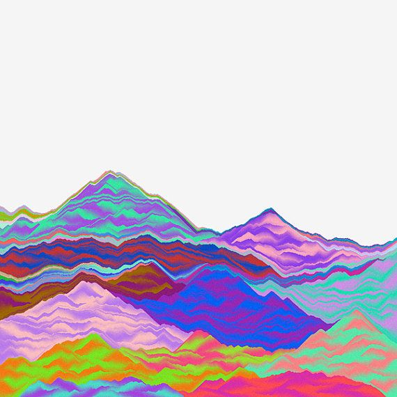Interstellar Mountains by impossiblemoon on Etsy, $15.00