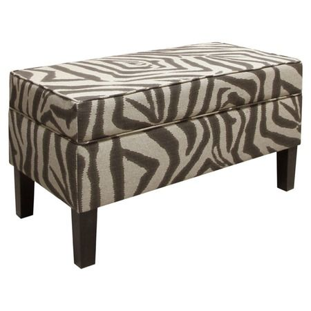 Chloe Storage Bench In Zebra Ikat From The Jolly Jewel Tones Event At Joss And Main Storage Bench Diy Home Decor Furniture