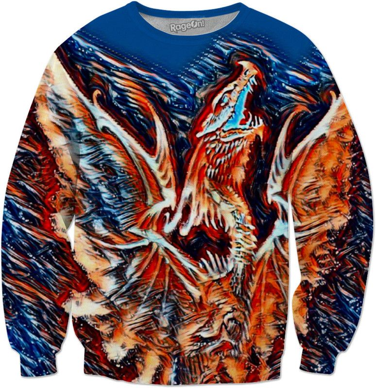 Dragon Element Trance Custom Fantasy Style Sweatshirt by Willy Badu.
