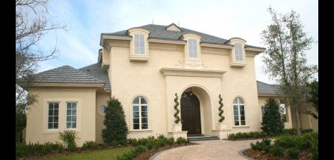 French Provincial Home These House Plans Have Tall Second Story Windows Often Arched At
