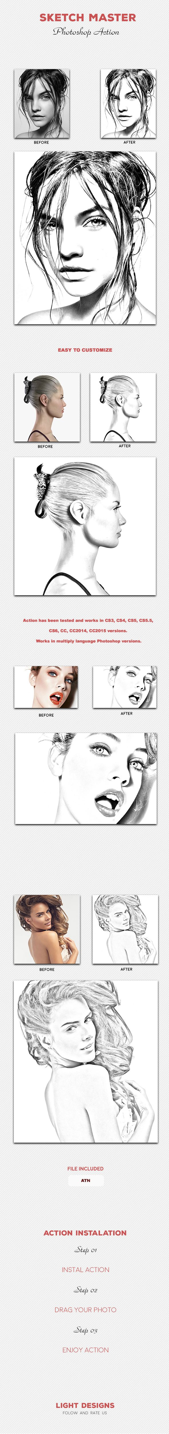 Sketch Master - Photoshop Action. Download here: http://graphicriver.net/item/sketch-master-photoshop-action-03/15970140?ref=ksioks