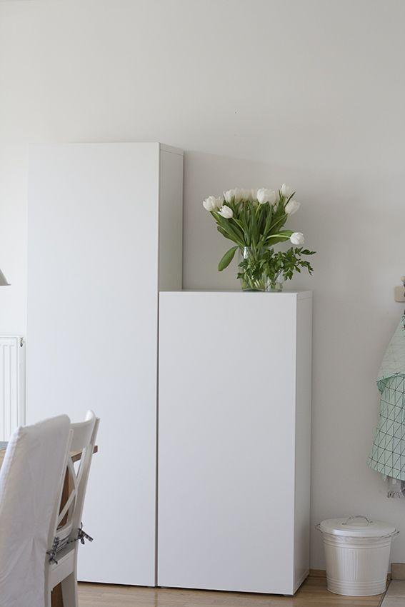 Ikea Besta Esszimmerschränke in weiß mit Tulpen by dekohochdrei ...