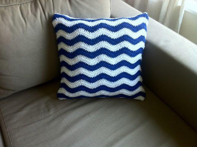 The Way I Crochet Crochet Ripple Cushion Cover Free Pattern