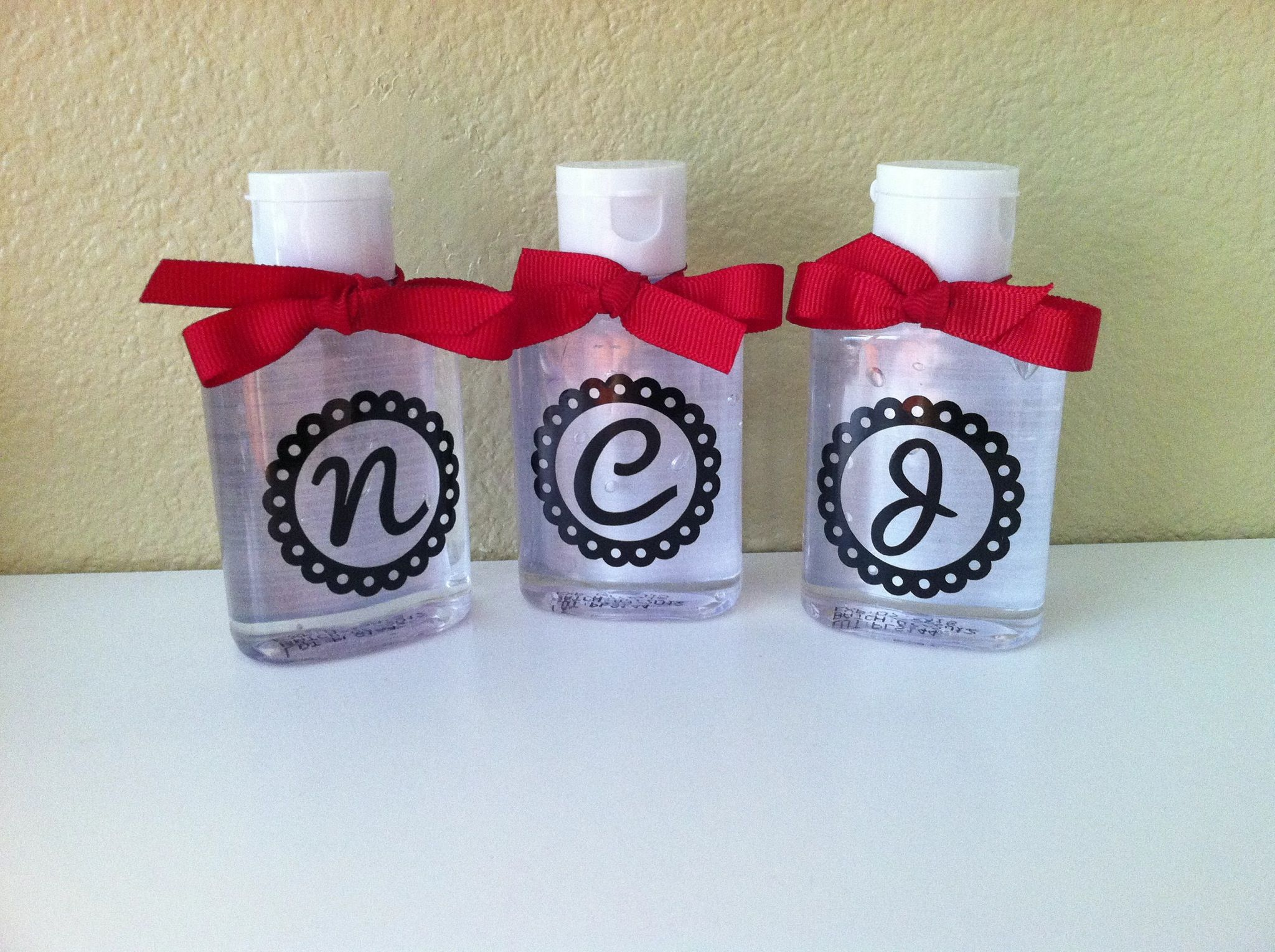 Vinyl Decals For Custom Hand Sanitizer Bottles Monogram Decal