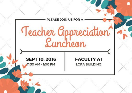 Pin By Anthea Maginley On World Teachers Day Teacher Appreciation World Teacher Day Printable Invitation Card