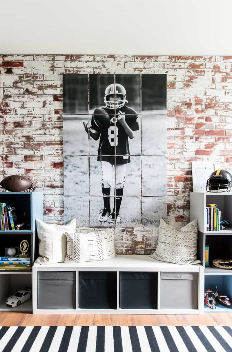 Large Diy Wall Poster Print A Picture On Multiple Pages Boys Room Wall Art Large Wall Space Brick Paneling