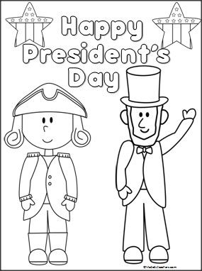 President S Day Coloring Page Teacher February Pinterest