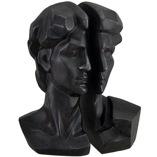 Captivating Amazon.com: Michelangelo Head Of David Satin Black Bookend Set: Home U0026.