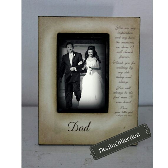 Father Daughter Wedding Frame Bride Just For by DeSiLuCoLLecTioN ...