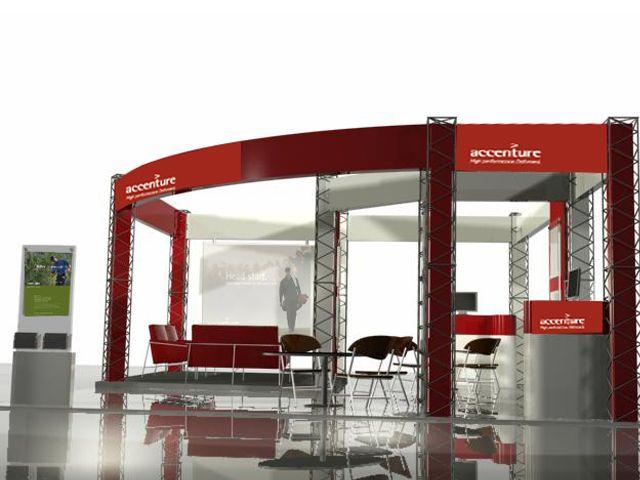 Exhibit design for Accenture. #exhibitdesign #3drendering #3dsmax #industrialdesigner #environmentdesign #design