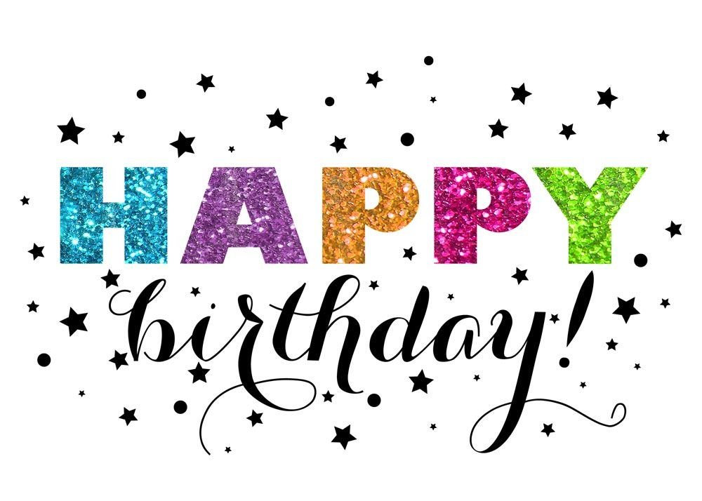 Glitter Starry Birthday – Business Birthday Greetings