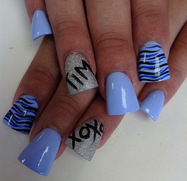 Nail design with boyfriends name my nail art pinterest nail design with boyfriends name prinsesfo Gallery
